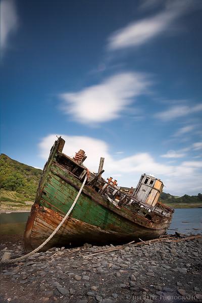 Abandoned boat, Horseshoe Bay - Isle of Kerrera, Scotland
