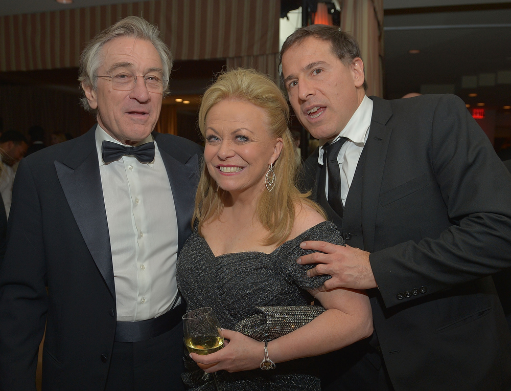 . Actor Robert De Niro, actress Jacki Weaver and Director David O. Russell attend The Weinstein Company\'s SAG Awards After Party Presented By FIJI Water at Sunset Tower on January 27, 2013 in West Hollywood, California.  (Photo by Charley Gallay/Getty Images for TWC)