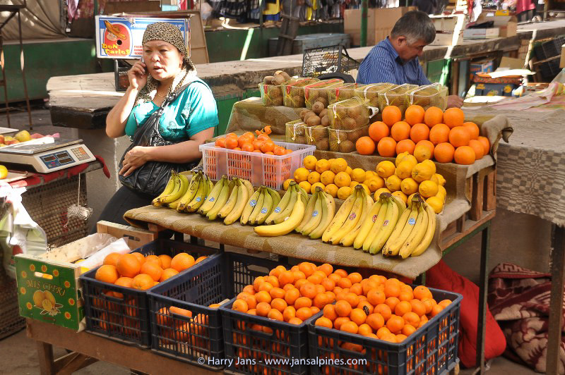 fruit shops at Bishkek market