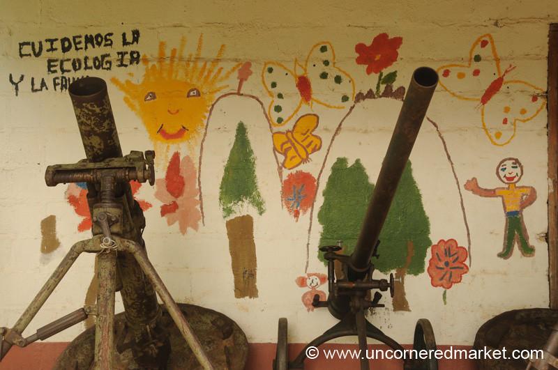 Perquin, El Salvador: Guns and Children's Murals