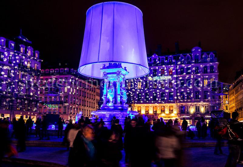 Place des Jacobins lors de la fête des Lumières à Lyon