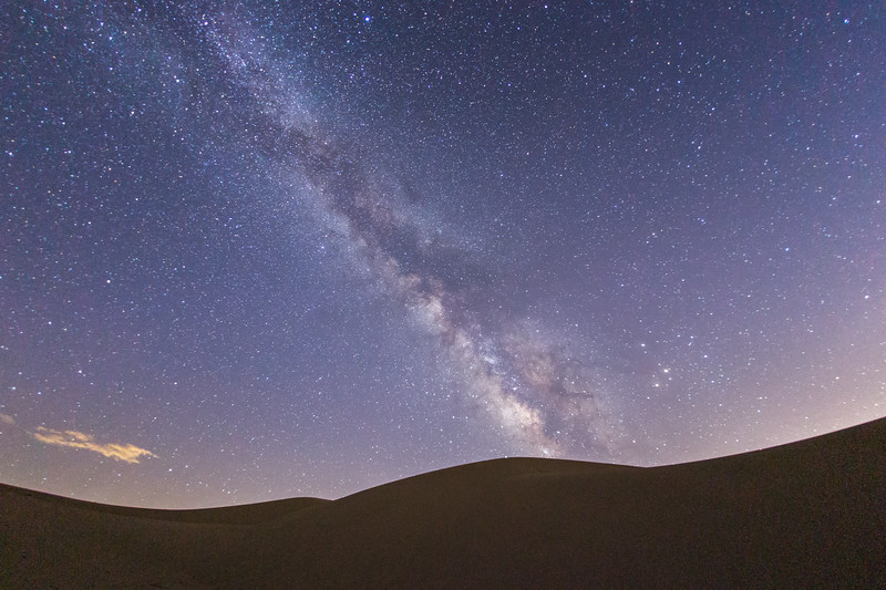 The Milky Way Over Glamis Sand Dunes