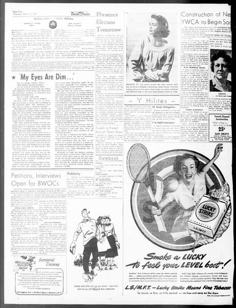 Daily Trojan, Vol. 40, No. 121, April 19, 1949