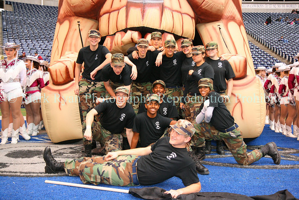 November 29,2008 Texas Stadium - Wylie High School Commander ROTC Spirit Team