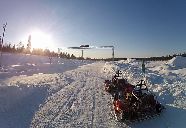 Ice Karts and the Track