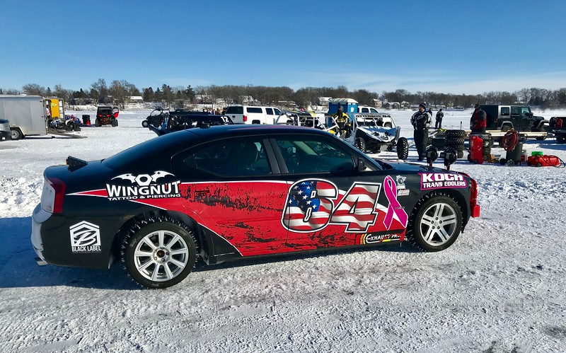 Derek Hedburg has the best looking ice-racing stock car I've seen anywhere.