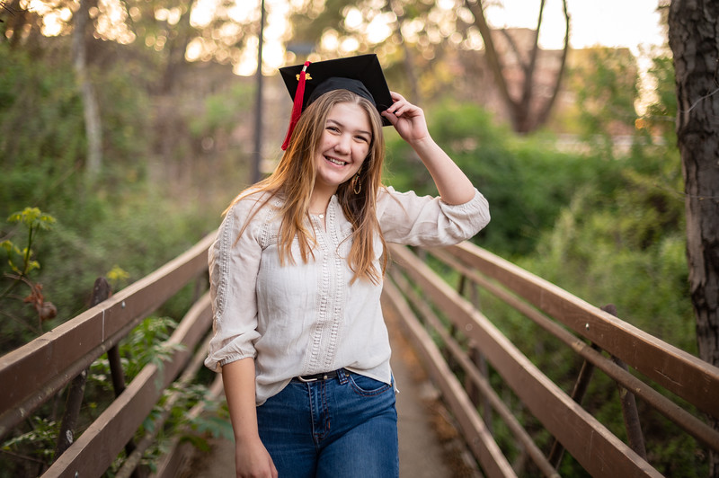 Kayla Phillips, a senior at CORE Butte High School, takes senior photos on Sunday, March 28, 2021 in Chico, Calif. (Jason Halley/Photographer/Chico, CA)