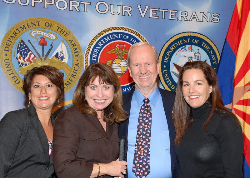 Ernestina Borquez-Smith, Paula Pedene, Jerry Molen and Debbie