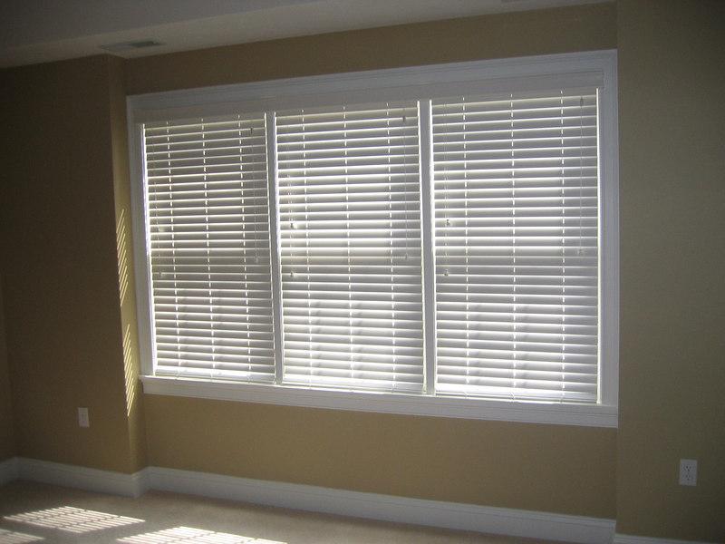 "2"" WoodMate blinds, closed"
