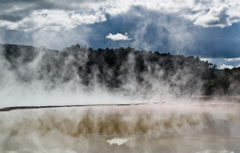 Champagne Pool, Wai-O-Tapu valley, somewhere between heaven and hell.