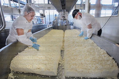 Beecher's Handmade Cheese chief executive officer Kurt Beecher Dammier is pictured at his company's production facility in Seattle, Wash.