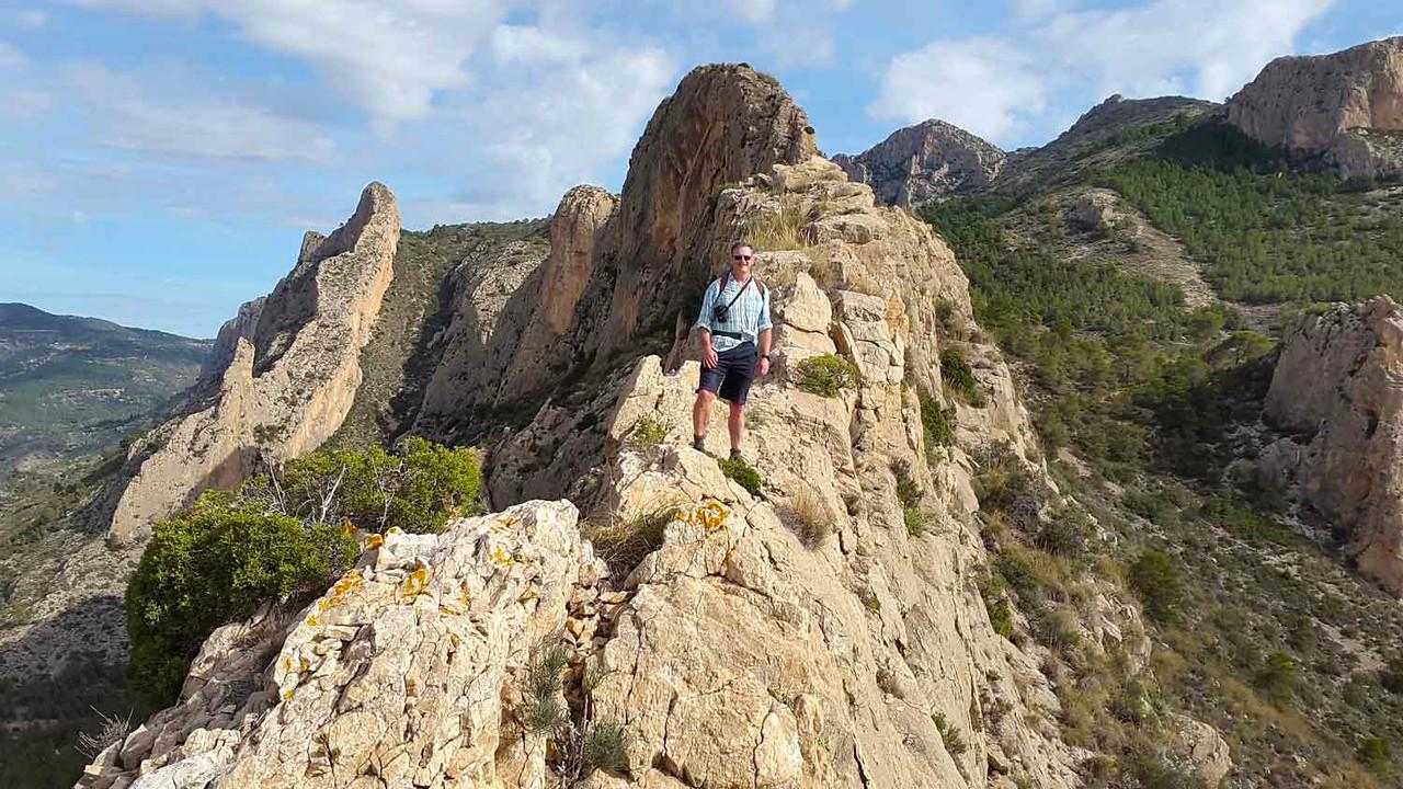 Richard commencing the Cabezon ridge climb