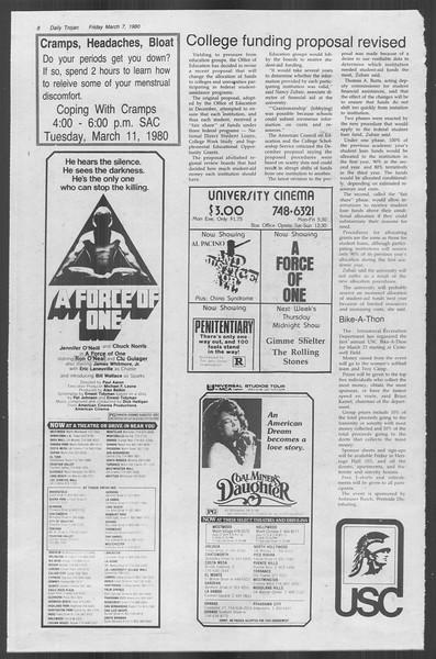 Daily Trojan, Vol. 88, No. 23, March 07, 1980
