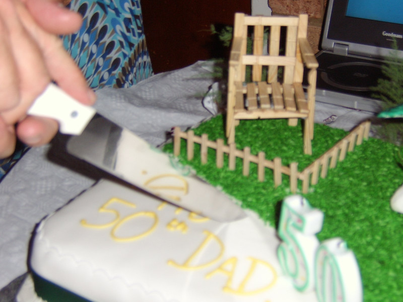 My excellent 50th Birthday Cake made by Adrian & Kerry Greene