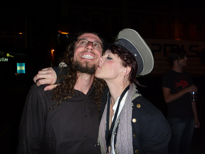Me and Amanda Palmer.  I look pretty terrible, she looks a little drunk. Her excuse can be that she seemed to be at every performance over 3 days of the festival and had to be running on little sleep. My excuse is that I haven't shaved in 3 weeks (since leaving on the Overland Track). Either way, I have documentation of a faux-kiss from AFP!