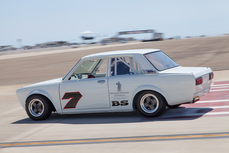 Steve Pharr races towards turn 11 in his 1972 Datsun 510. © 2014 Victor Varela