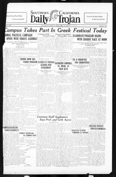Daily Trojan, Vol. 16, No. 106, May 15, 1925