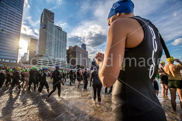 2016 Chicago Triathlon Open Water Swim