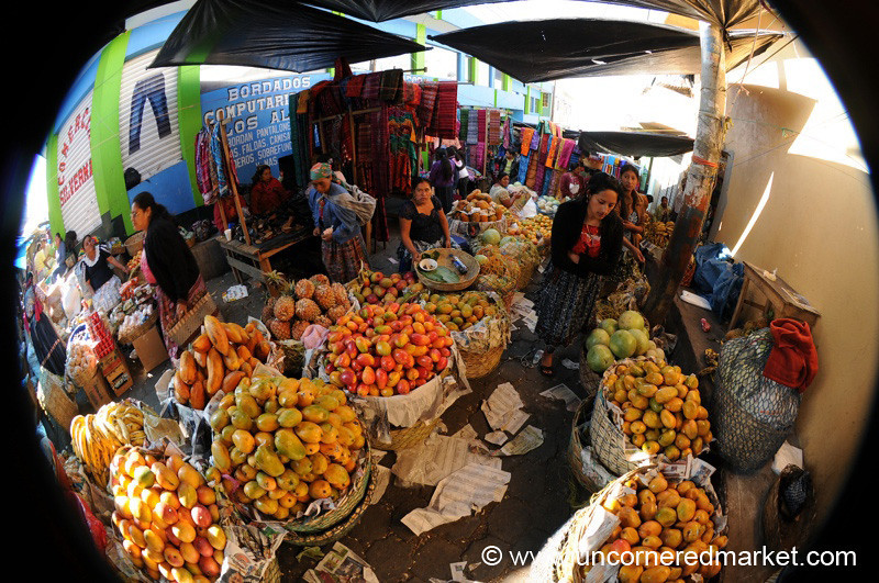 Tropical Fruits at San Francisco El Alto Market, Guatemala
