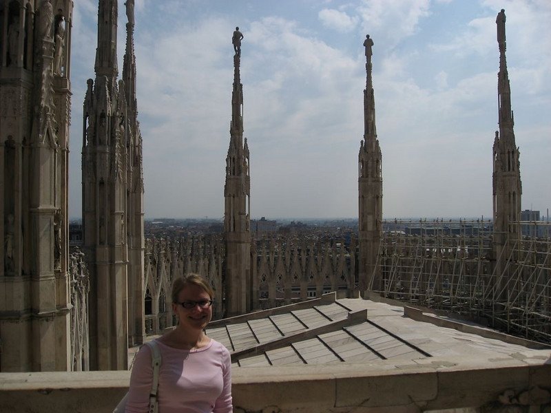 Erin on top of the Duomo