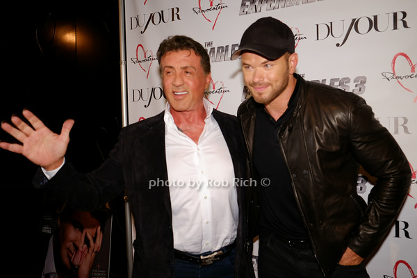 Sly Stallone & Kellen Lutz attend the Dujour Magazine cover party for Sylvester Stallone  At Provacateur niteclub in Manhattan 8/14/14 Photo by Rob Rich