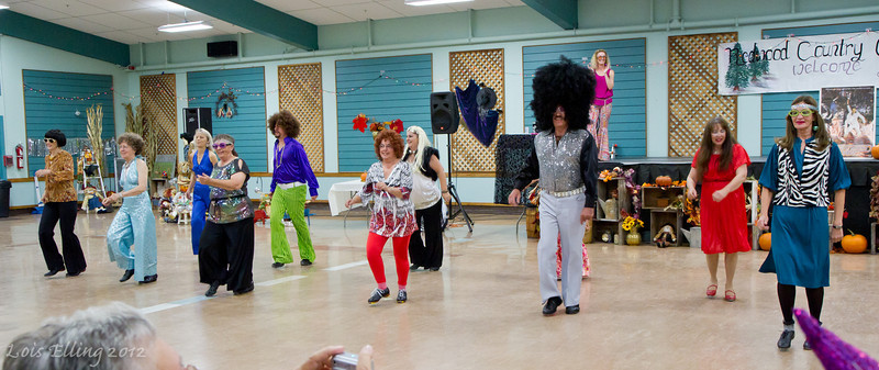 Redwood Country Cloggers performing a disco piece at Late Harvest Stomp, 2012.