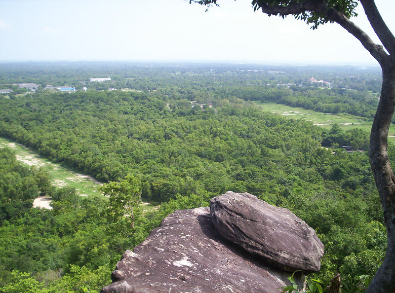 uninterrupted, panoramic vista from the escarpment.