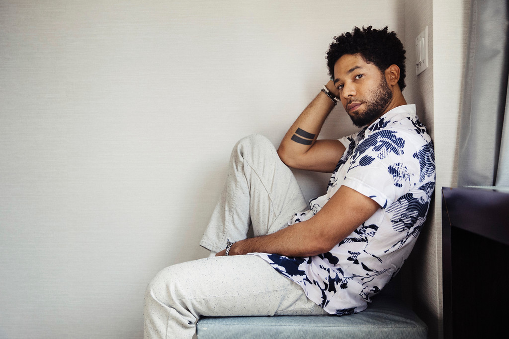 ". Actor-singer Jussie Smollett, from the Fox series, ""Empire,\"" poses for a portrait on Tuesday, March 6, 2018, in New York. Smollett performs June 8 at the Grog Shop in Cleveland Heights. For more information, visit grogshop.gs. (Photo by Victoria Will/Invision/AP)"