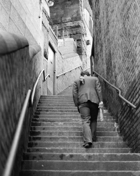 (Dr) Tim Williams, Newcastle-upon-Tyne, Dog Leap Stairs 1980