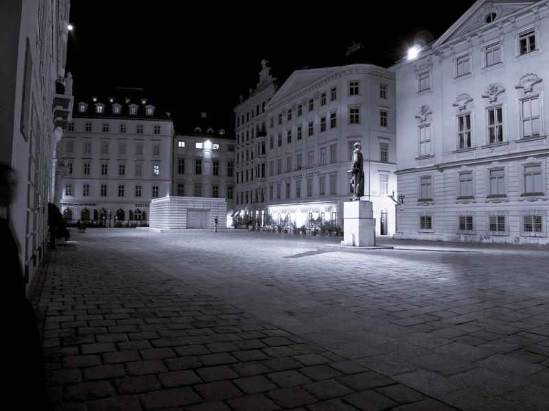 Judenplatz at the center of Vienna's Jewish quarter.