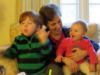 2015-01-10 Grandkids playing with Grandma
