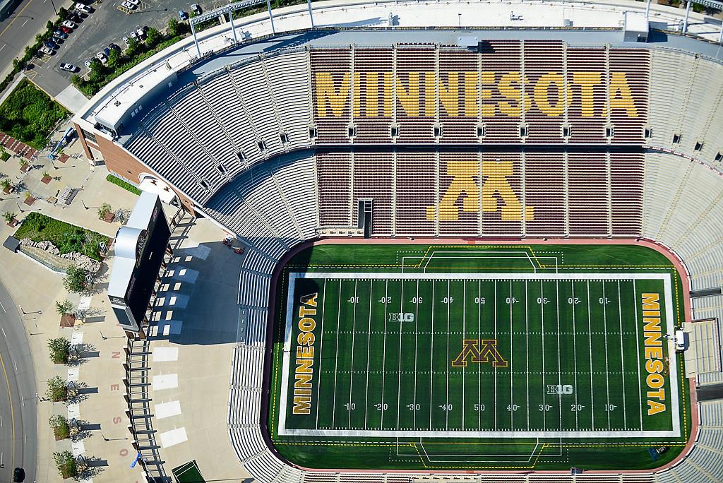 . TCF Bank Stadium at the University of Minnesota in Minneapolis. (Pioneer Press: Ben Garvin)