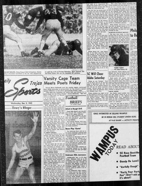 Daily Trojan, Vol. 34, No. 51, December 02, 1942