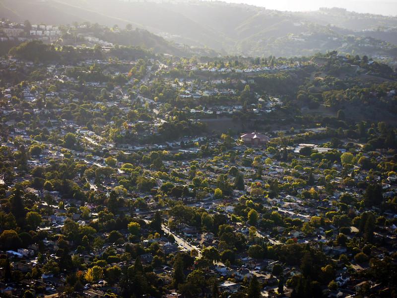 San Carlos, Alameda De Las Pulgas in center.