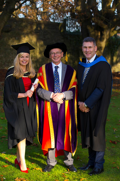 01/11/2017. Waterford Institute of Technology Conferring is Maria O'Connor from Tramore with Prof. Willie Donnelly, President of WIT and Eugene Crehan. Picture: Patrick Browne