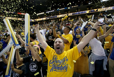 Photos: Fans go wild at Golden State Warriors Game 5 watch party at Oracle Arena as Dubs beat Toronto Raptors 106-105