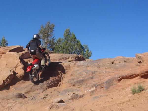 Dirt bike riding in Moab - October 2008