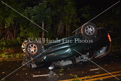 20130524 - Cold Spring Harbor - Overturned Auto