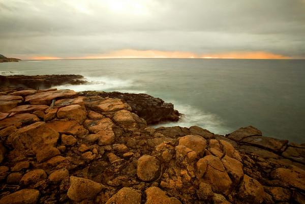 Sunrise - with Waves & Rainbow