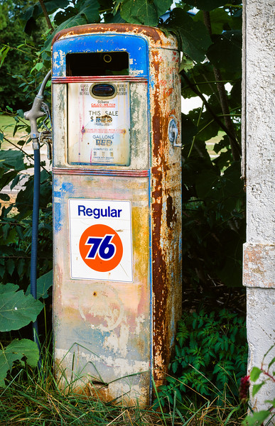 Gas pump, Apex, North Carolina, 1995
