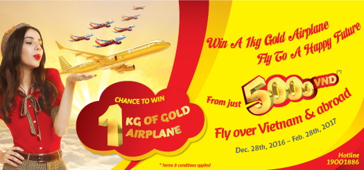 Win a 1kg solid-gold airplane