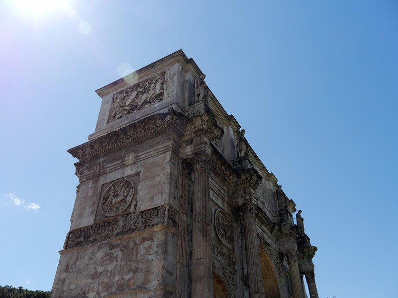 Arch of Constantine. remarkably without any scaffolding.