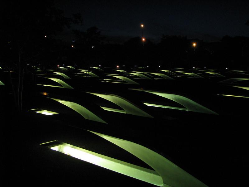 911 Memorial outside the Pentagon--BEAUTIFUL!!