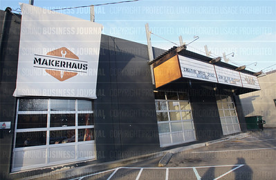 Pictured is the under-renovation Makerhaus space in Seattle'