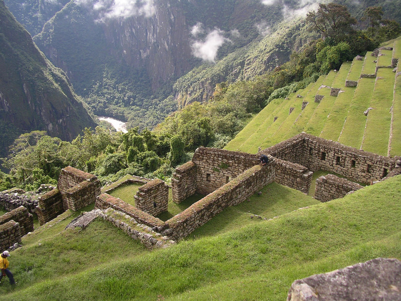 Gorgeous Machu Picchu scenery, with the river down below.