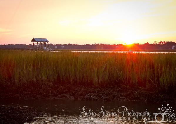 Sunset on Murrells Inlet and Dolphin Street