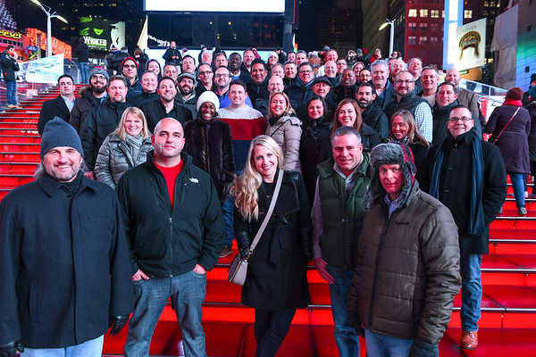 2017 Sales Group Shot - Times Sq & Bowlmor NYC