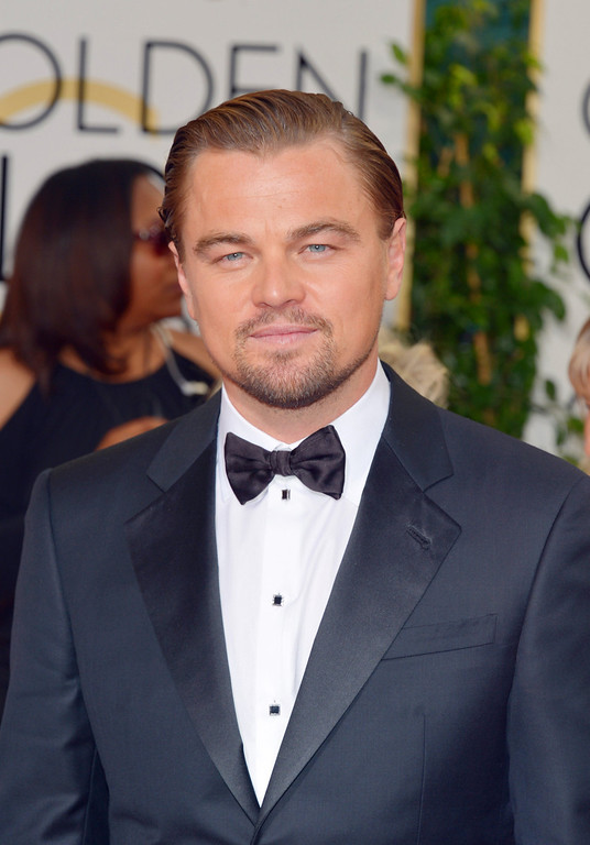 . Leonardo DiCaprio arrives at the 71st annual Golden Globe Awards at the Beverly Hilton Hotel on Sunday, Jan. 12, 2014, in Beverly Hills, Calif. (Photo by John Shearer/Invision/AP)