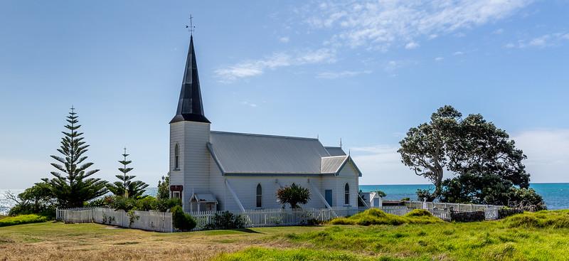 Historische anglikanische Kirche in Raukokore