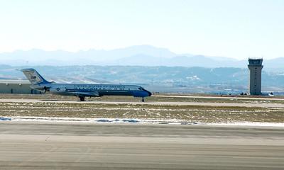 First Lady Laura Bush arrives Ellsworth AFB